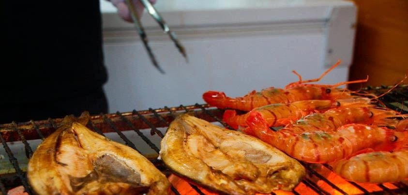 BBQ Seafood at the Sapporo Autumn Festival