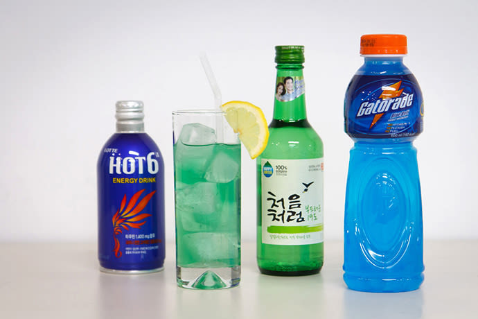 Hot 6, Enerzizer, Soju and Gatorade