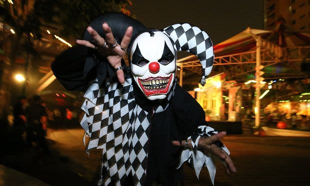 Scary clown at Sunway Lagoon