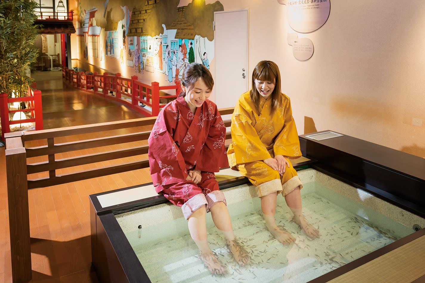 Fish spa at Arima Onsen Taikounoyu Spa
