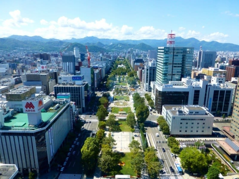 View of Odori Park from the Sapporo TV Tower