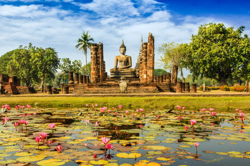 sukhothai culture, sukhothai north thailand, sukhothai buddha statue, sukhothai temple