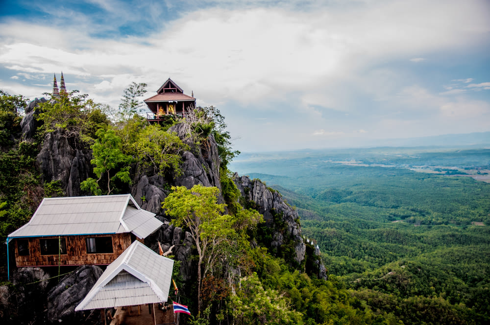 north thailand, chiang mai hills thailand, traditional thai homes