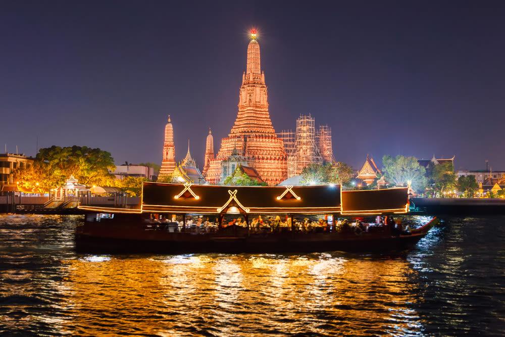 bangkok dinner cruise, bangkok chao phraya cruise, chao phraya river