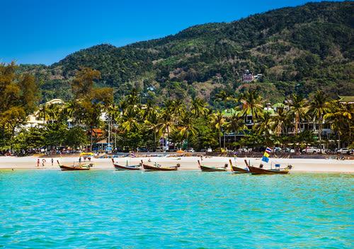 phuket beach, phuket seaside, phuket boats