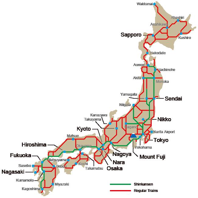 bản đồ JR Nhật Bản