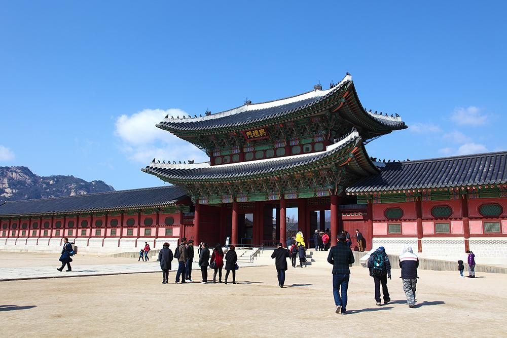 Seoul Gyeongbokgung Palace Outside