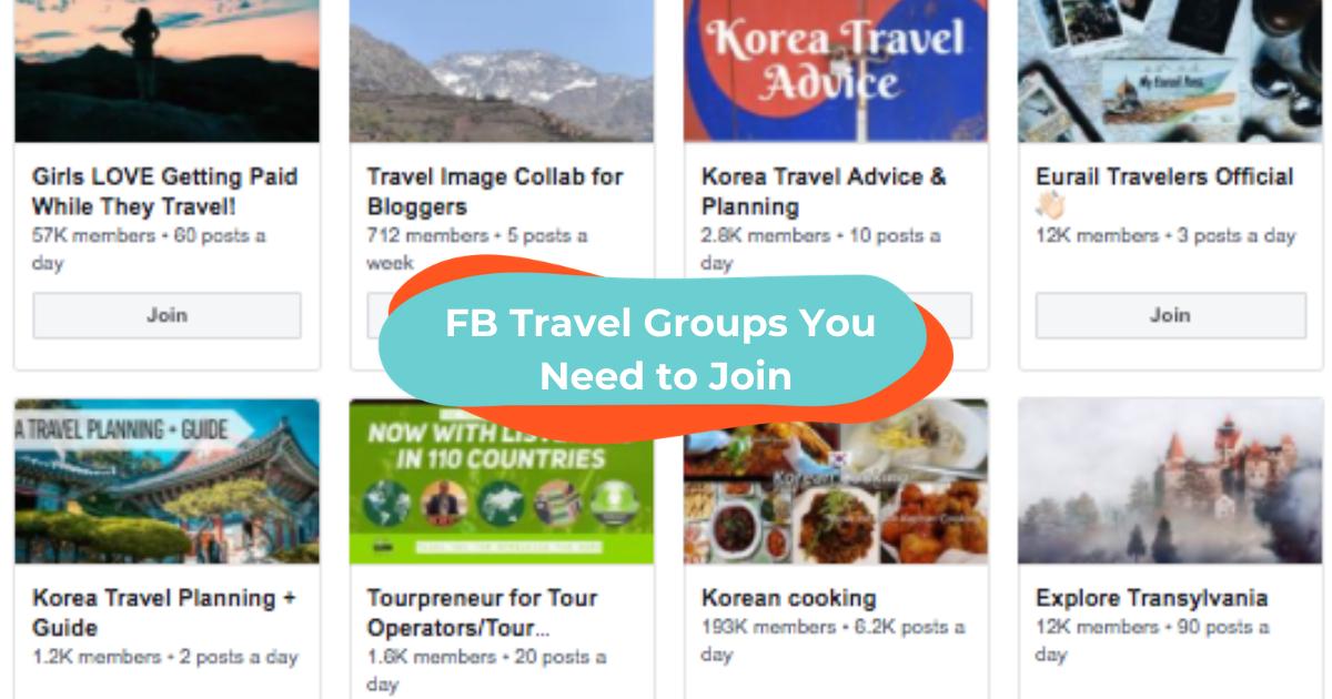 FB travel groups