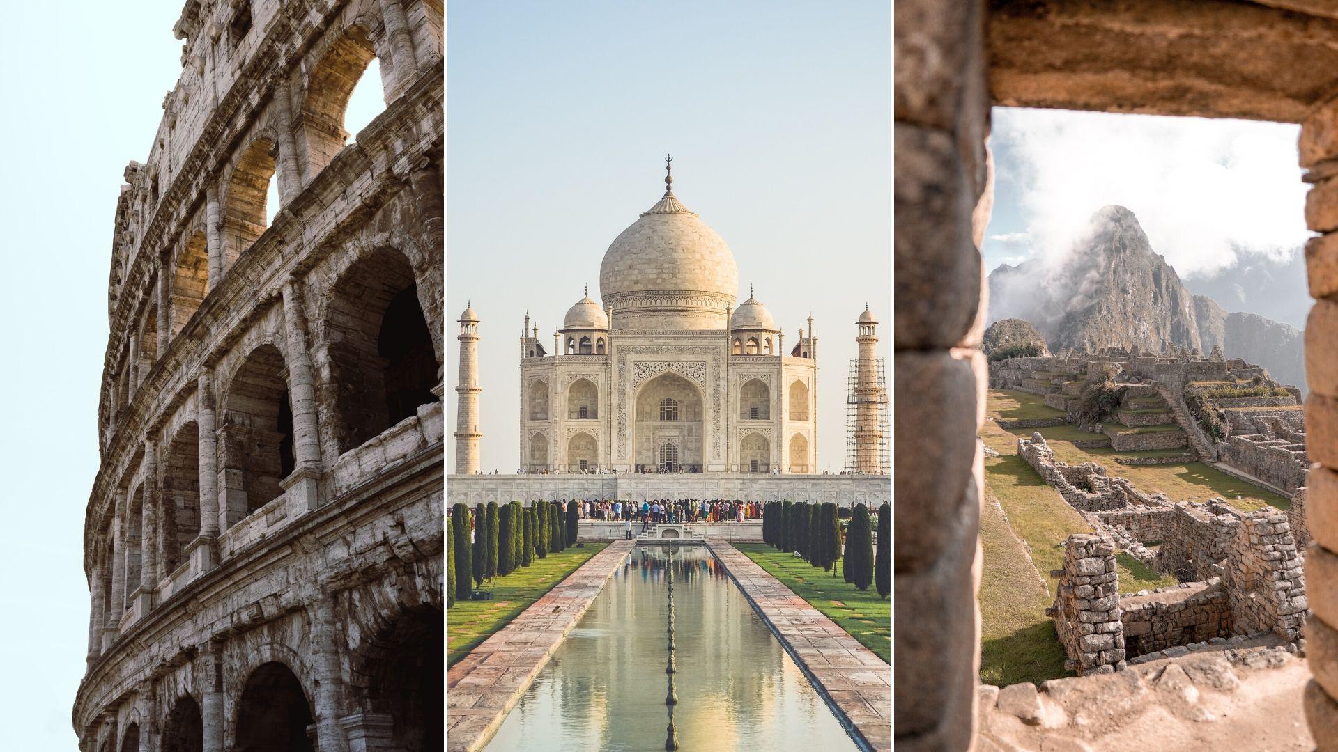 taj mahal, great wall of china, lockdown, india lockdown