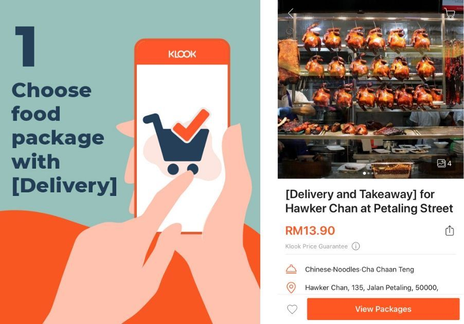 klook food delivery step 1