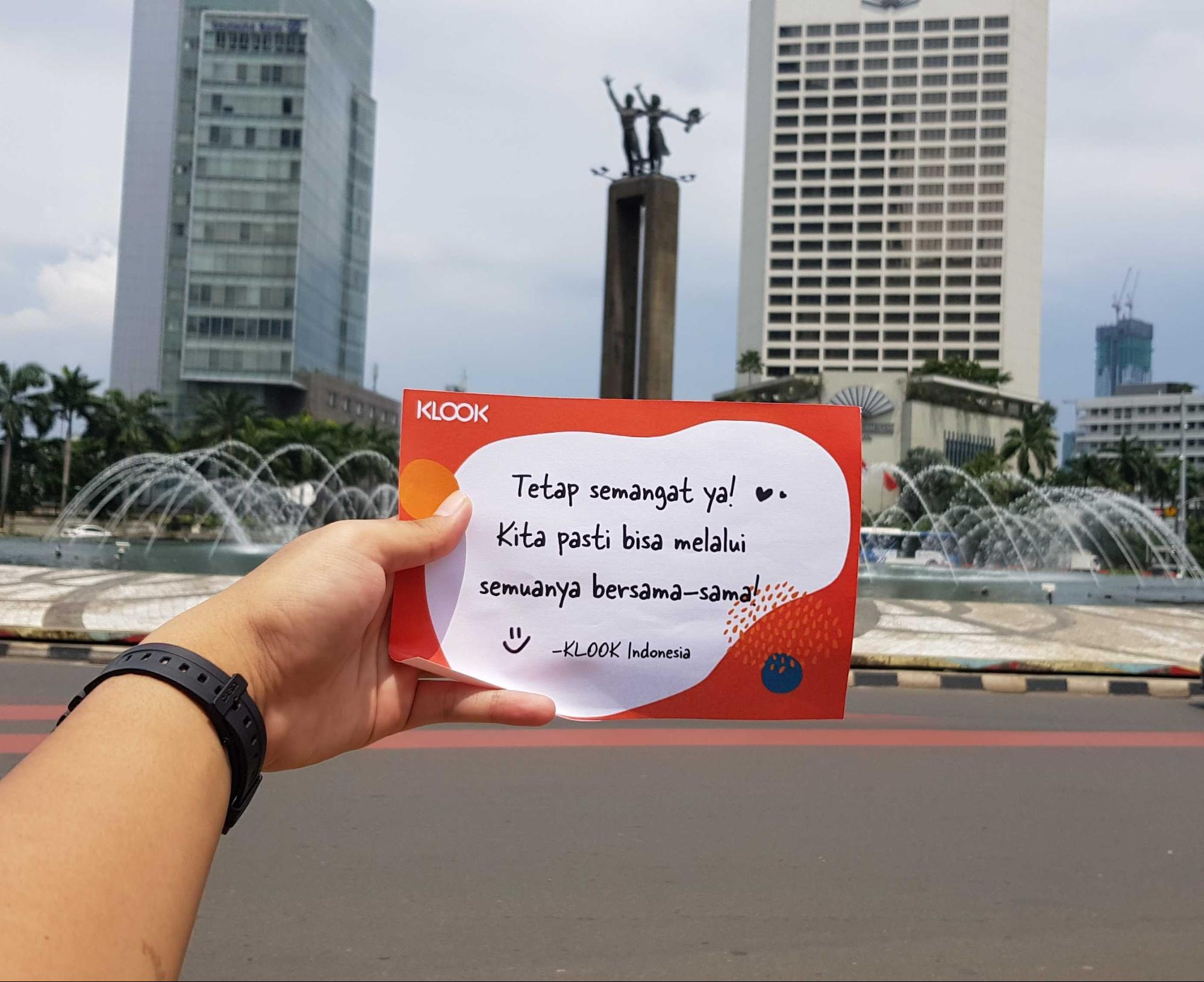 Bundaran HI or Selamat Datang Monument in Jakarta