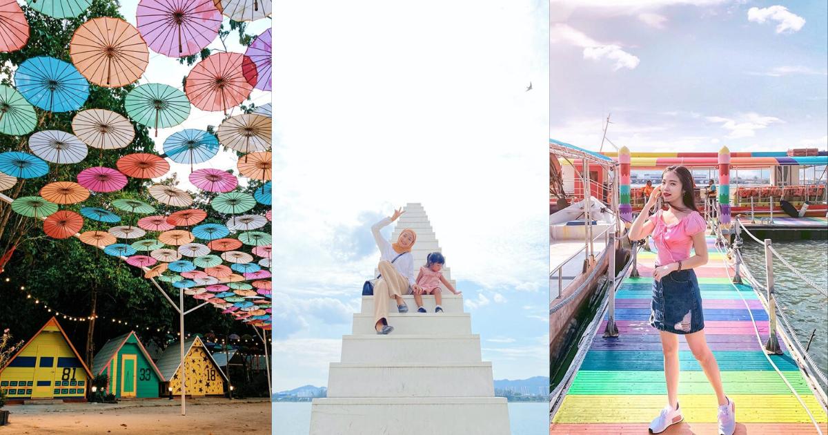 【槟城景点】隐藏胜地:拥有梦幻天梯和彩虹桥的Pulau Jerejak 🌈