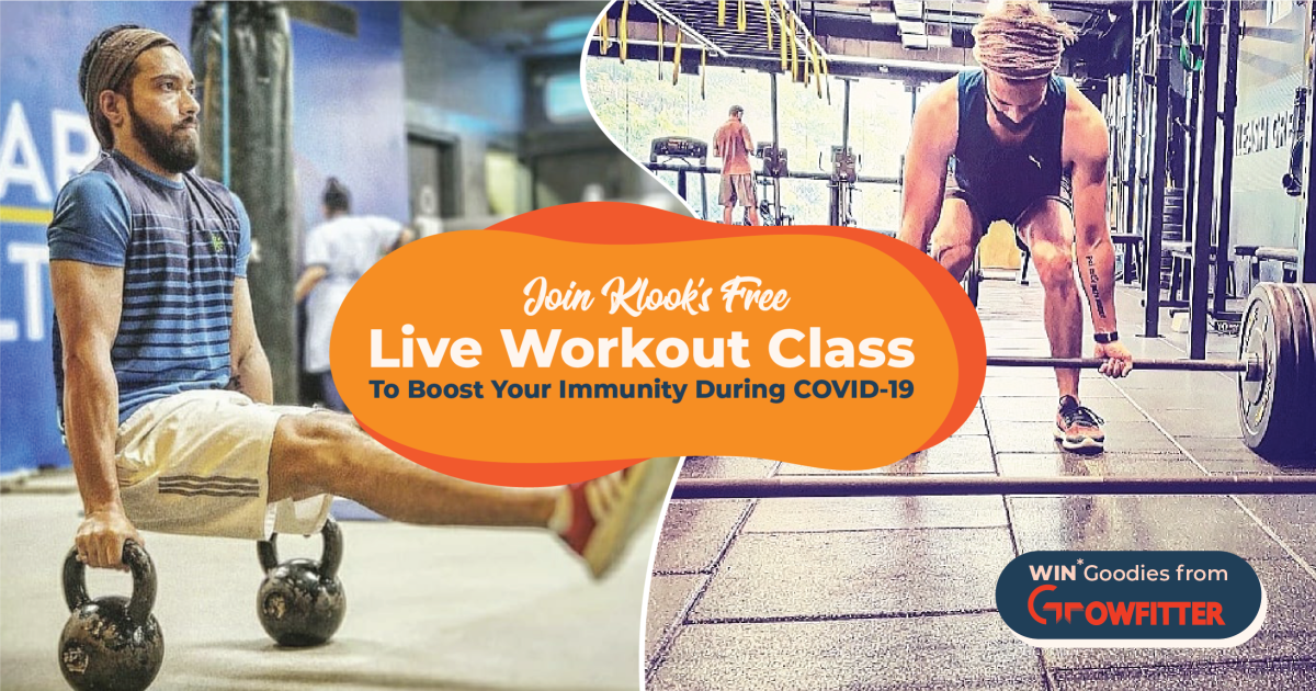 Klook Presents FREE Live Workout Class To Boost Your Immunity
