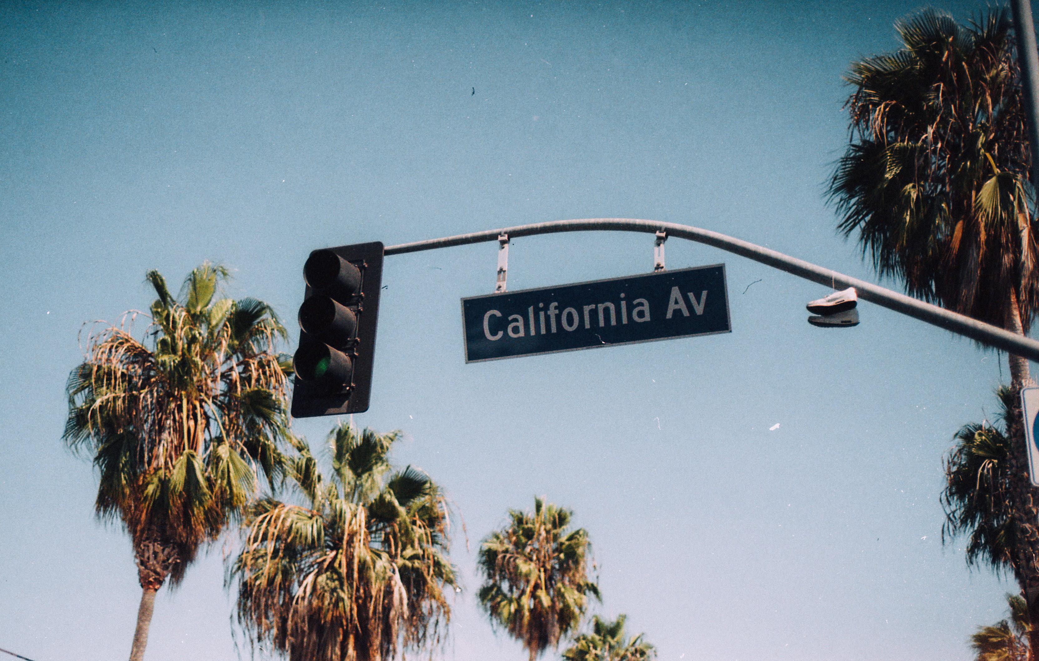 California avenue photo, welcome sign, Klook, California, Palm Trees