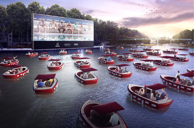 Paris launches a Floating Cinema on the Seine perfect for social distancing!