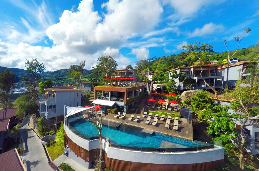 a panoramic view of Amari Phuket Hotel from outside