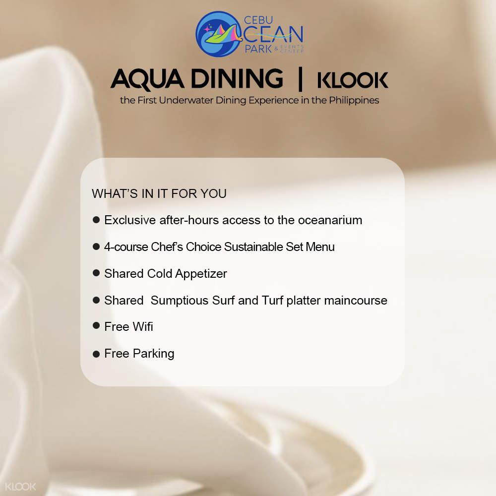 cebu ocean park aqua dining package