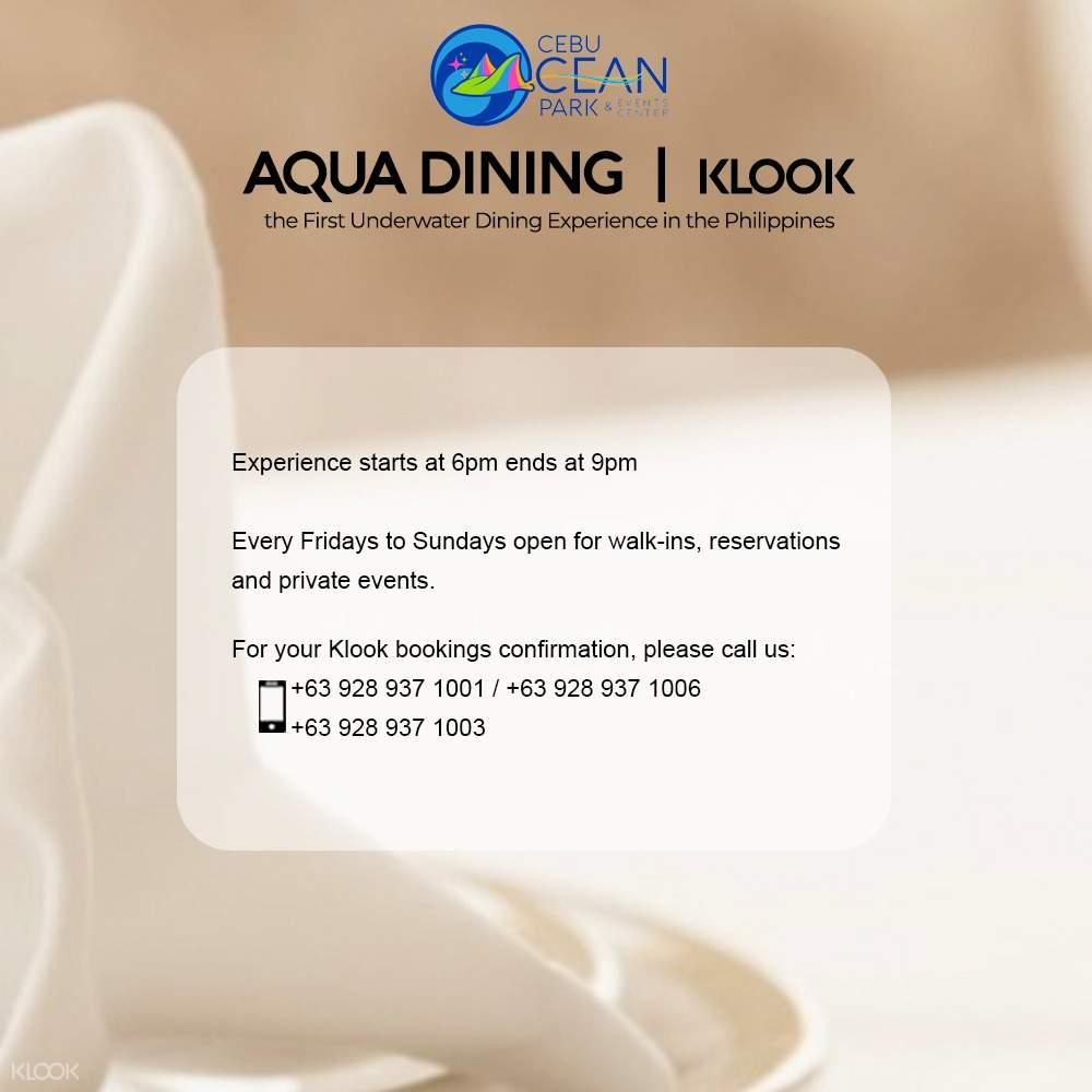 aqua dining regulations