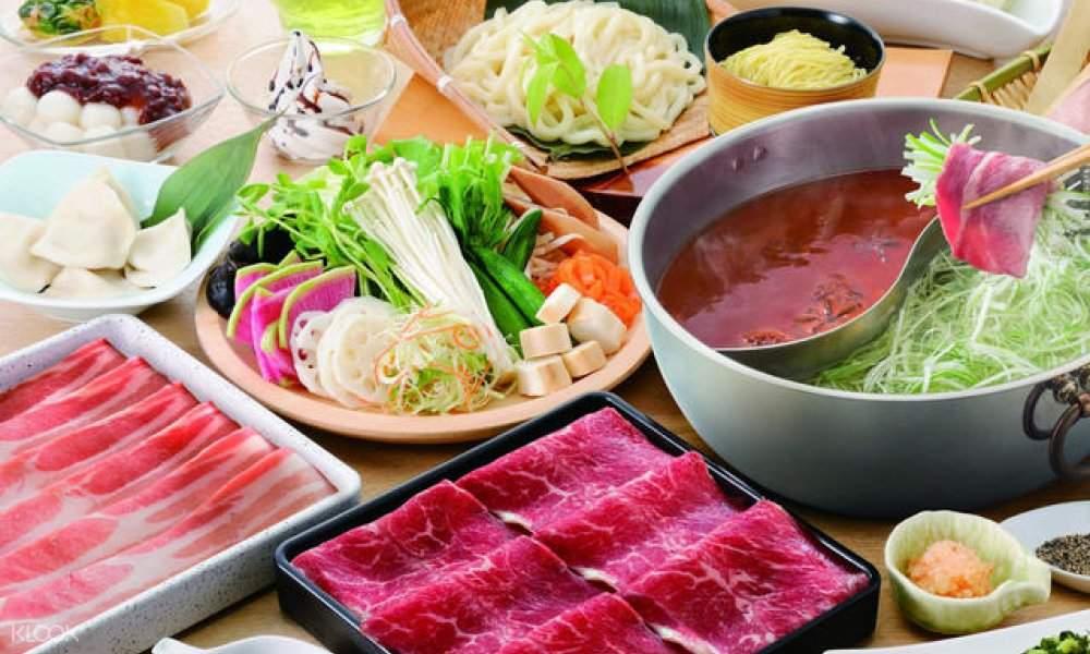 Shabu-shabu buffet lunch