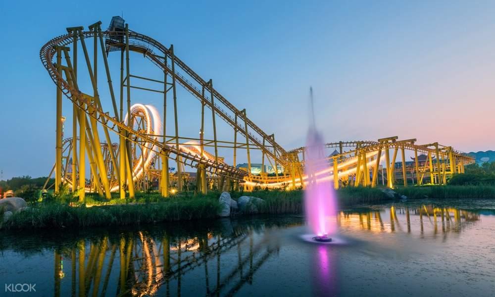 roller coaster at Fantawild Adventure Theme Park