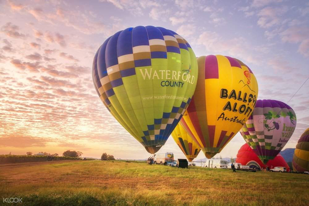 hunter valley sunrise balloon flight