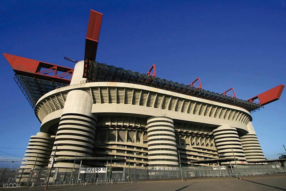 exterior of san siro stadium milan