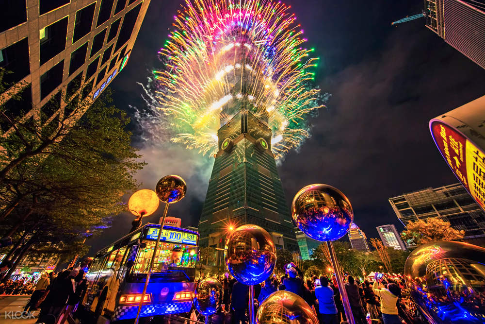 Taipei 101 Observatory Pair Ticket For New Year's Eve Fireworks
