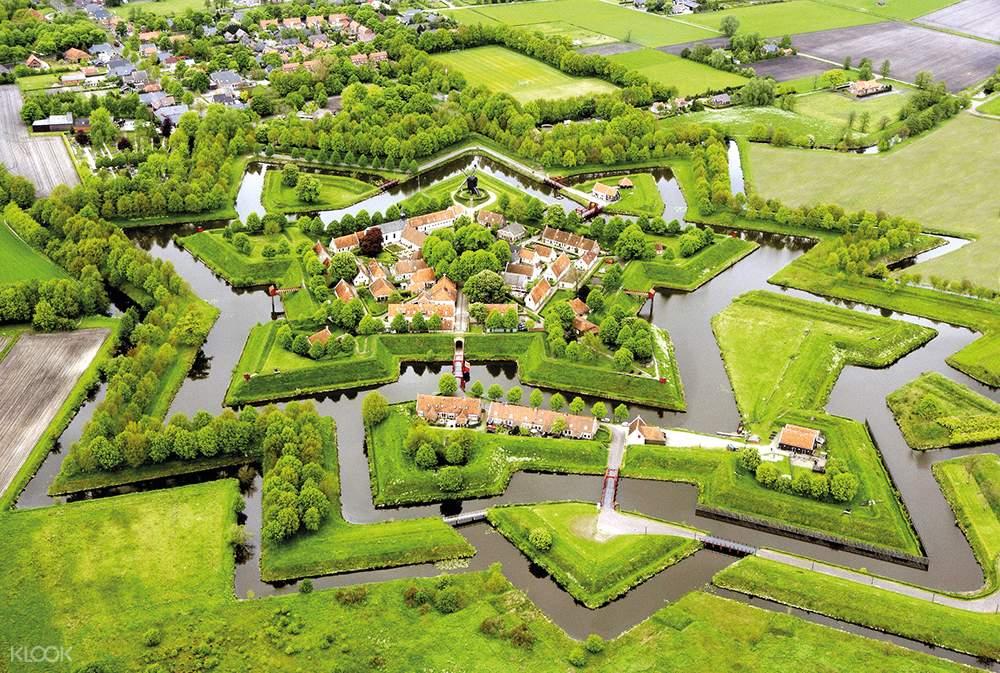 羊角村一日遊,布爾坦赫城一日遊,阿夫魯戴克大壩,荷蘭北部一日遊,羊角村,布爾坦赫城