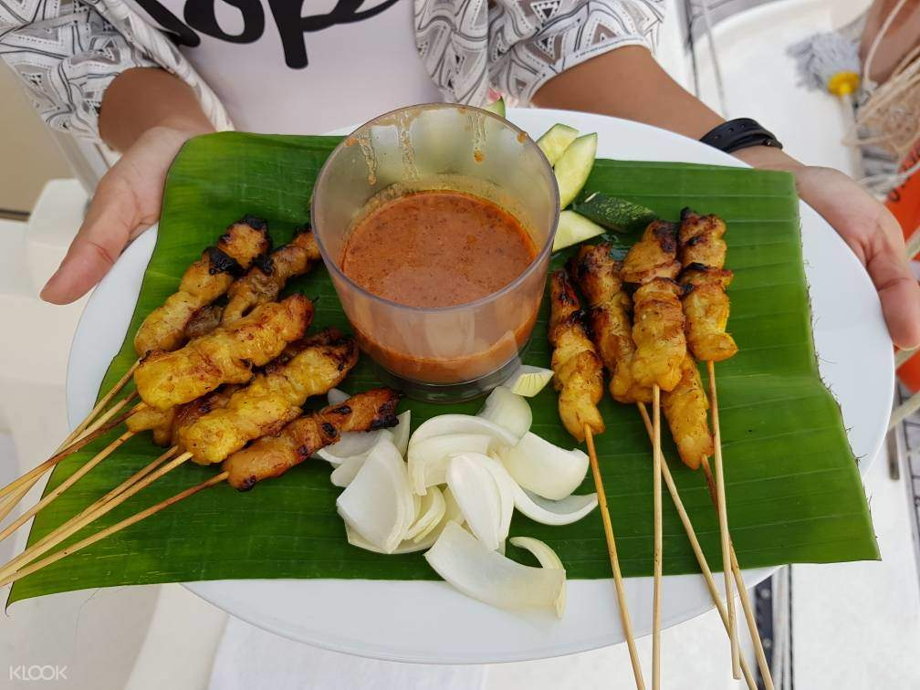 Langkawi luxury cruise chicken satay