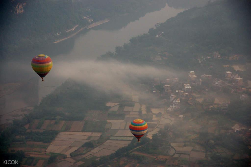 Yangshuo hot air balloon experience