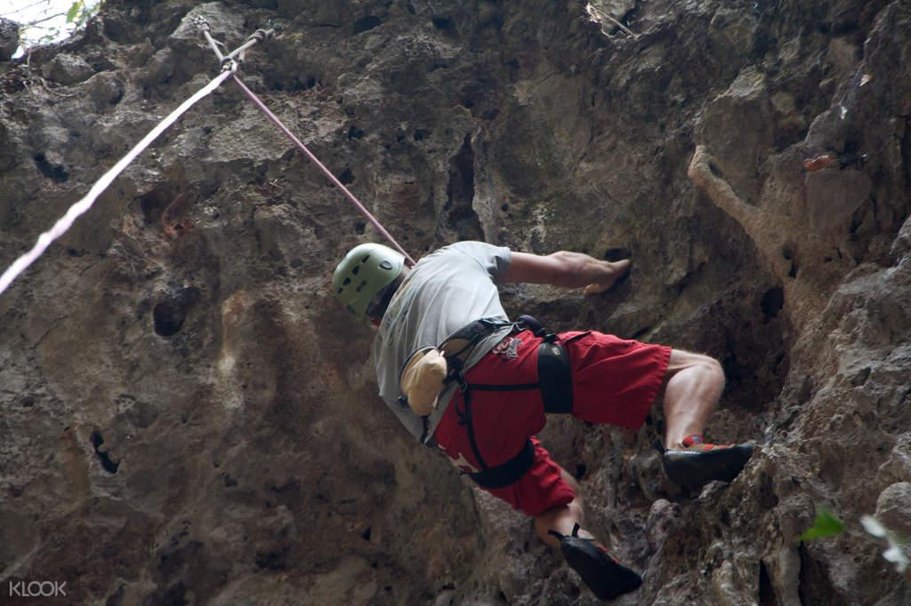 rock climbing course laos