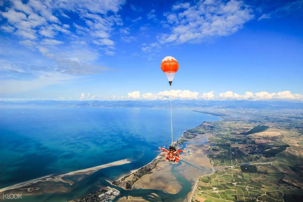 Peaceful decent under parachute