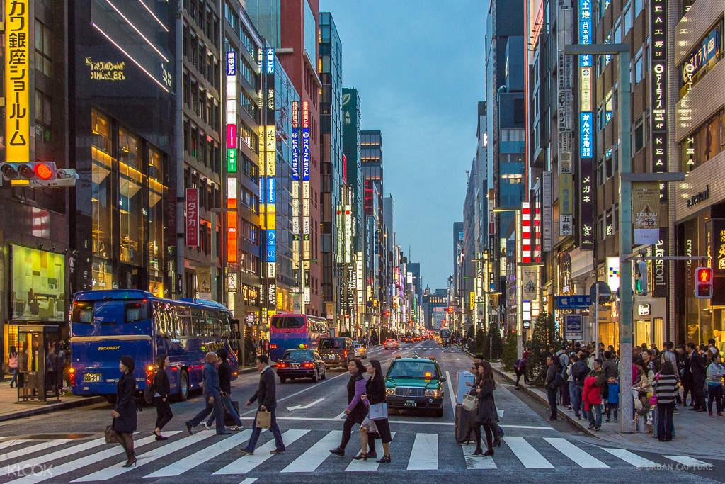 东京拼车游览银座