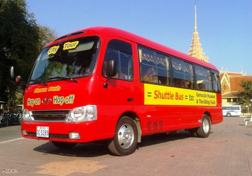 프놈펜 킬링필드 시티투어 버스 & 투슬랭 박물관