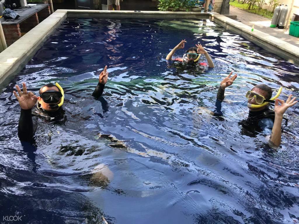 Pool session before diving at Menjangan Island!