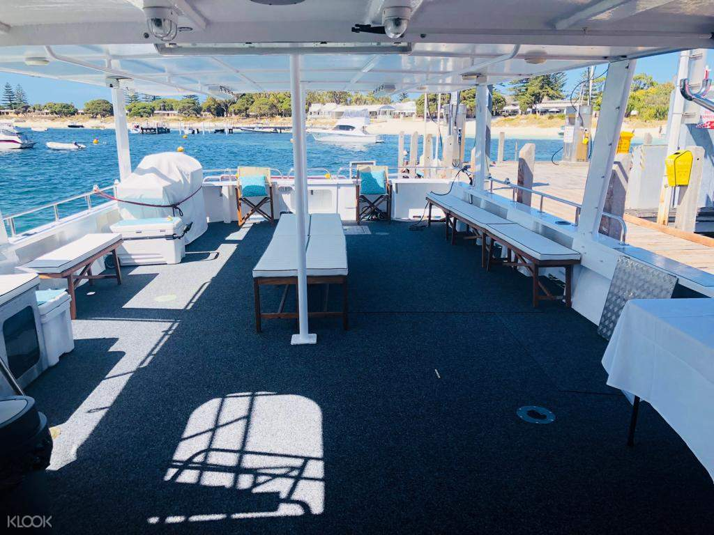 interior of boat in rottnest island seafood experience