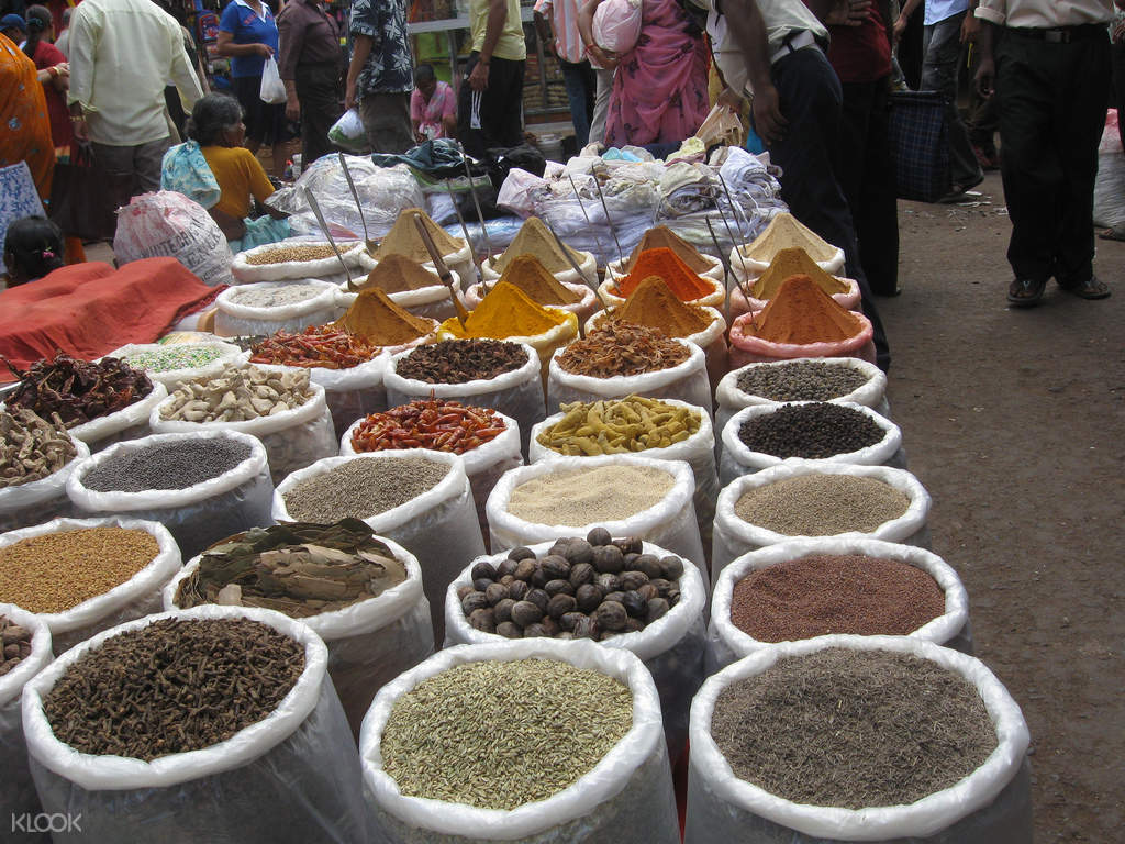 spices sold at a local vendor in chennai market