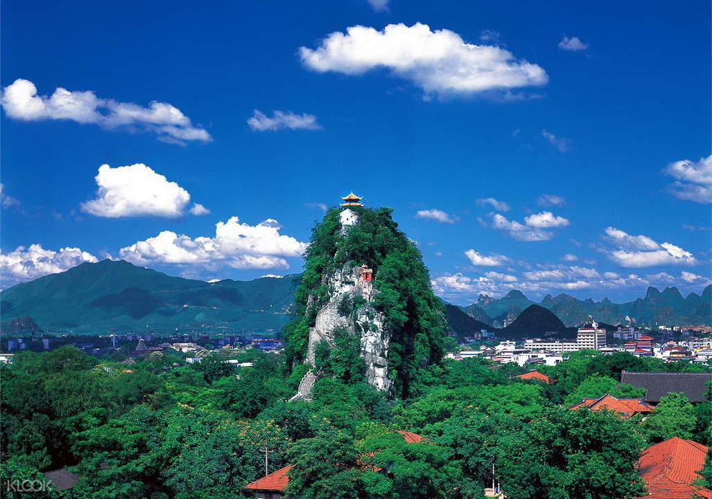 桂林獨秀峰景區全景