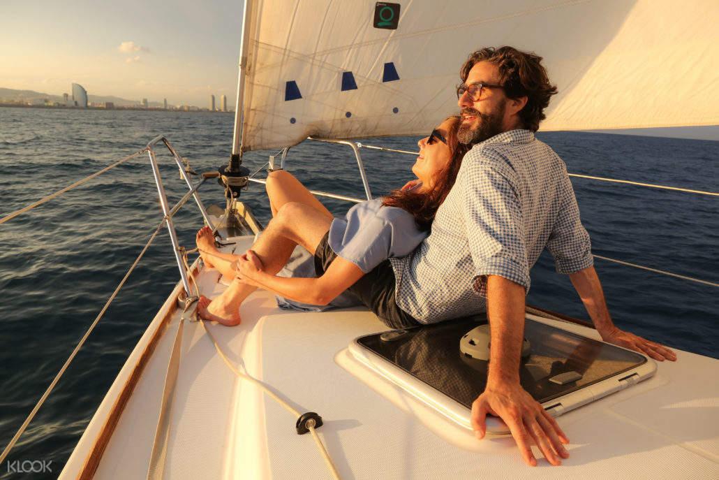 巴塞罗那游船观光,巴塞罗那落日游船,巴塞罗那私人帆船,巴塞罗那海上之旅,巴塞罗那地中海落日,巴塞罗那旧港出海