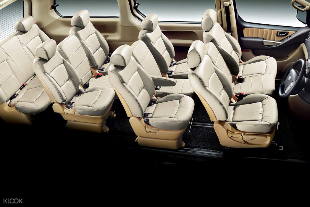 interiors of a 12-seater car