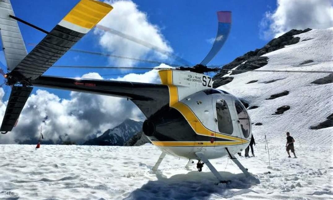 雙冰川直升機飛行