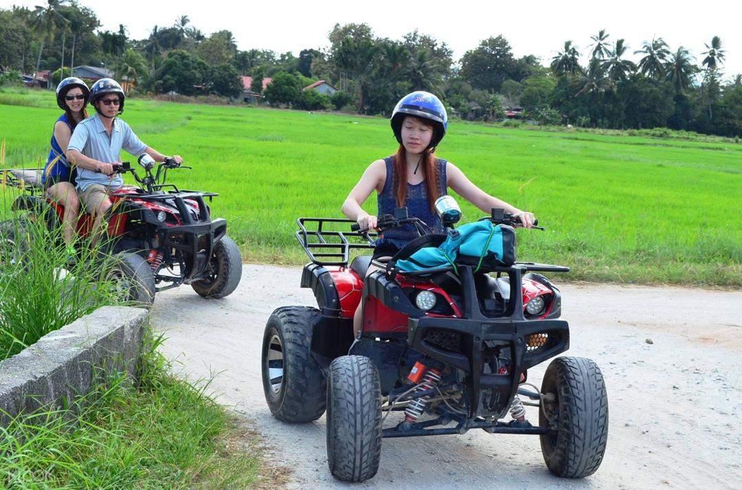 tourist ride the atv in langkawi