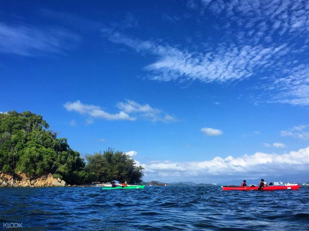 island hopping adventure full day tour kota kinabalu via kayak