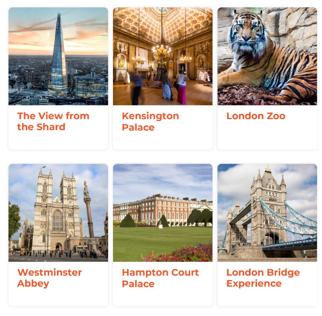 倫敦景點通行證包含景點