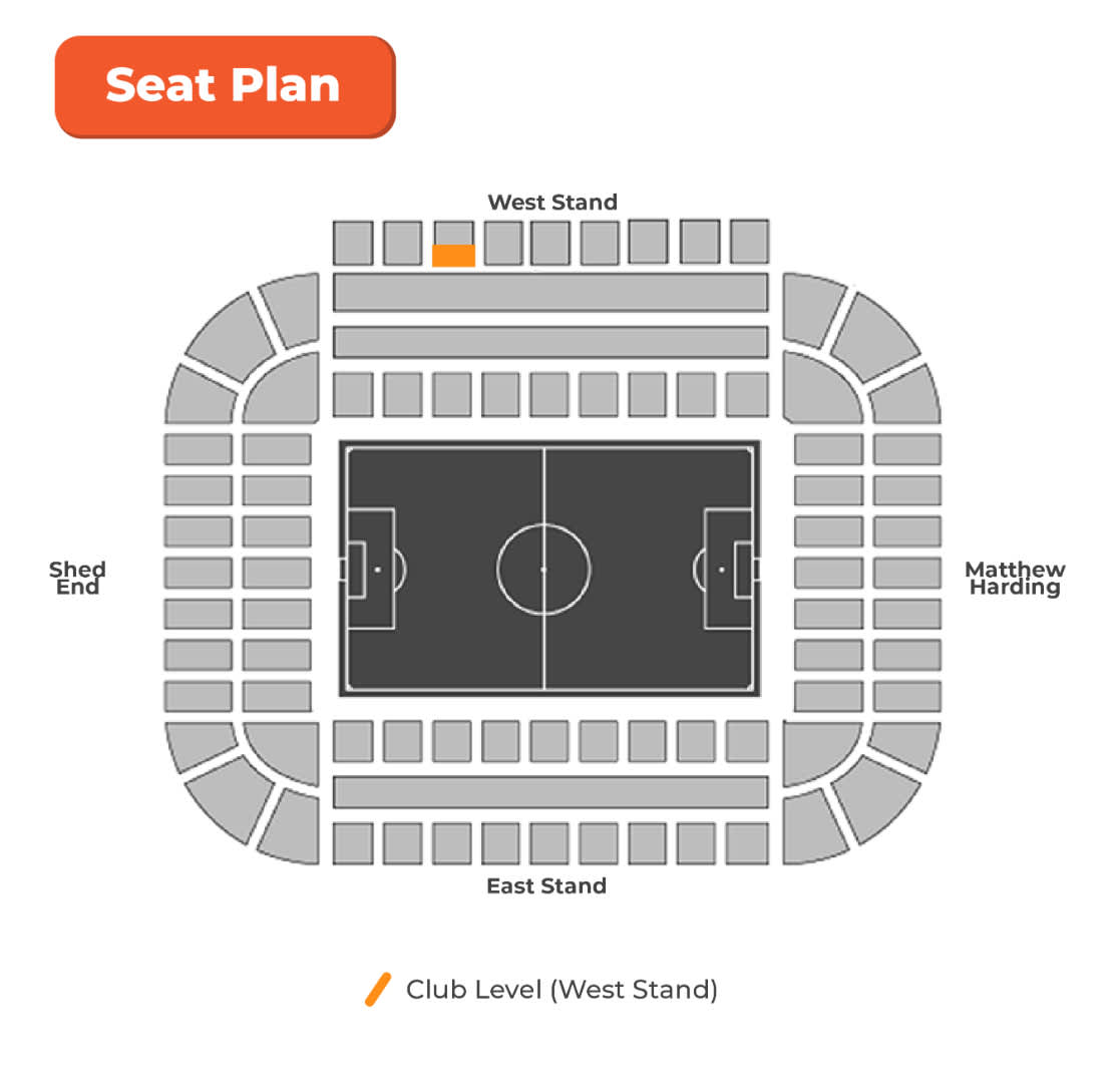 west stand seat plan Stamford Bridge Stadium