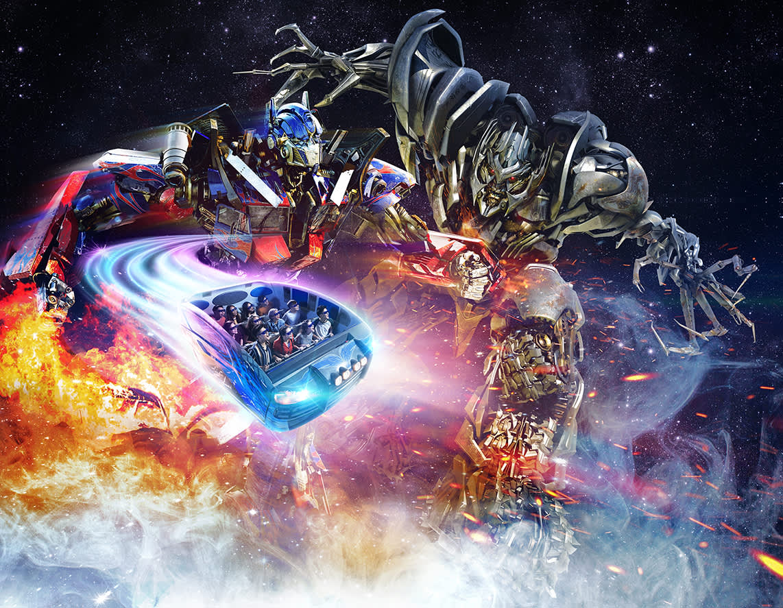 transformers in sentosa universal studios