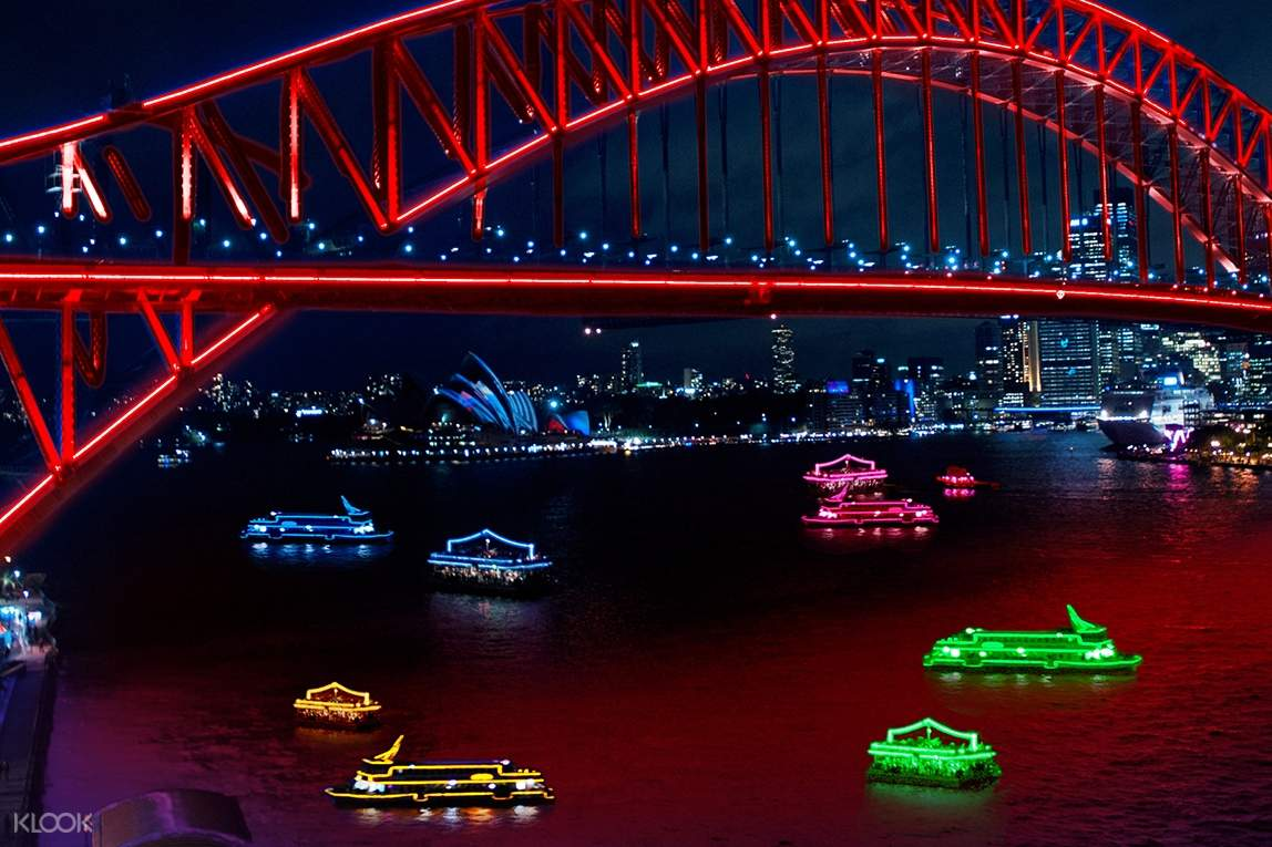 Sydney Harbour during the night