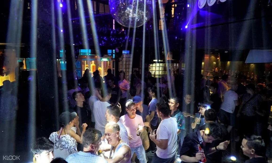 people inside a club in bangkok