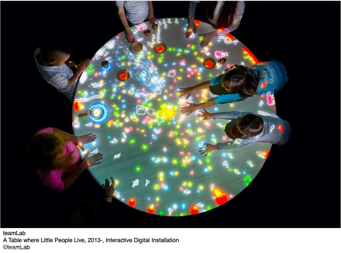 A Table where Little People Live, 2013-, Interactive Digital Installation