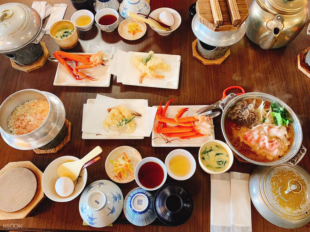sushi crab japanese style lunch